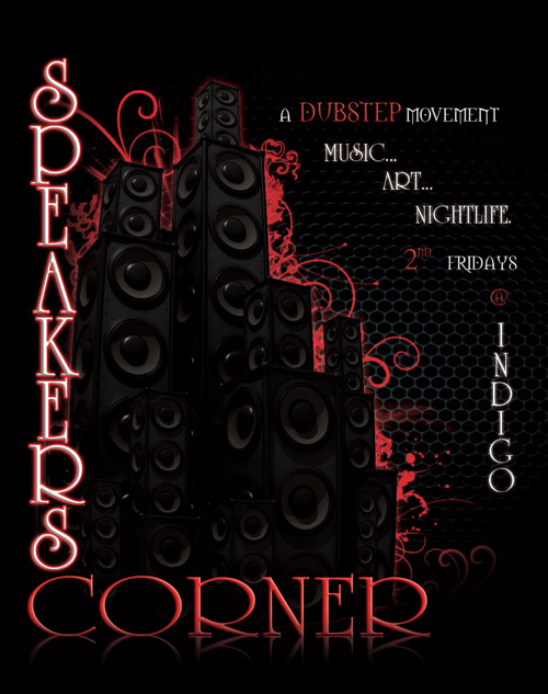 Speaker's Corner by Organized Grime - Flyer Front