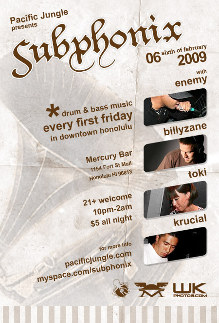 February 2009 Subphonix Flyer