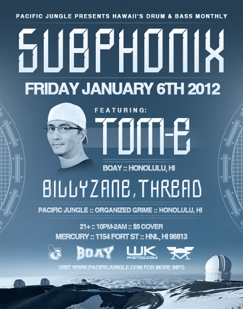January 2012 Subphonix flyer