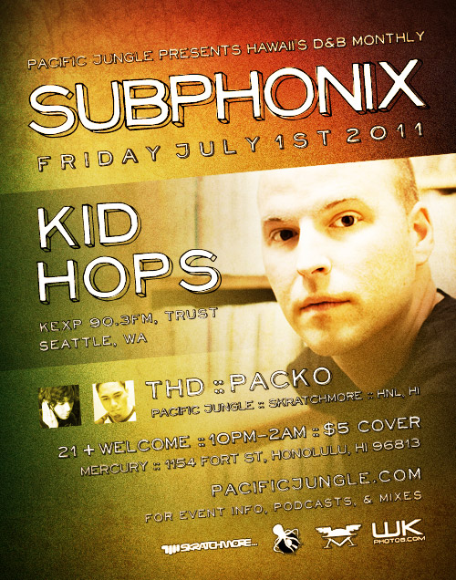 July 2011 Subphonix Flyer by Pacific Jungle