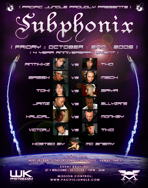 October 2009 Subphonix Flyer