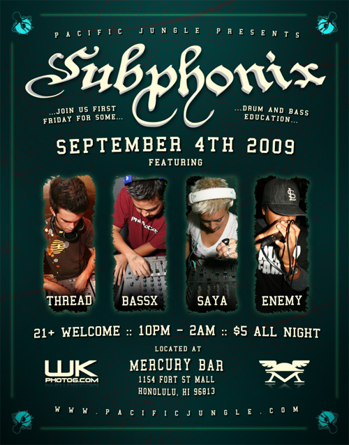 September 2009 Subphonix Flyer