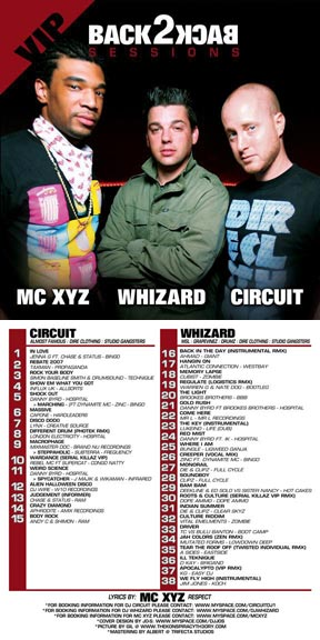 MC XYZ's B2B Sessions Circuit & Whizard VIP Album Cover